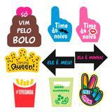 Kit Decorativo Plaquinhas Divertidas Casamento Mod.13 9 itens Duster - Festabox