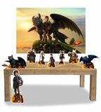 Kit Display Como Treinar seu Dragão 8 Peças + Painel Grande - X4adesivos