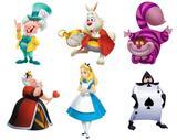 kit Display festa Alice no País das Maravilhas 6 Displays - X4adesivos