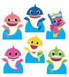kit Display festa Mdf Baby Shark 6 Displays 22cm - X4adesivos