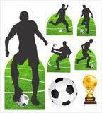 kit Display festa Mdf Futebol 1 Totem chão e 6 Displays 22cm - X4adesivos