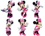 kit Display festa Mdf Minnie Rosa 6 Displays 22cm - X4adesivos