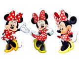 kit Display festa Mdf Minnie Vermelha 3 Displays 22cm - X4adesivos