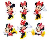 kit Display festa Mdf Minnie Vermelha 6 Displays 22cm - X4adesivos