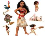 kit Display festa Moana 1 Totem chão e 6 Displays 22cm - X4adesivos