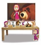 Kit Display Masha e o Urso 8 Peças + Painel Grande - X4adesivos