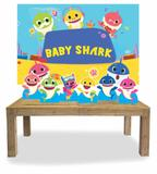 Kit Display Mdf Baby Shark Com 06 Pçs + Painel - X4adesivos