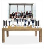 Kit Display Mdf BTS Com 9 Pçs + Painel - X4adesivos