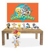 Kit Display Mdf Looney Tunes Baby Menina 07 Pçs + Painel Grande - X4adesivos