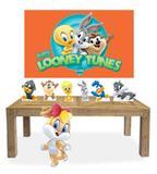 Kit Display Mdf Looney Tunes Baby Menina 07 Pçs + Painel - X4adesivos