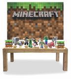 Kit Display mdf Minecraft Com 11 Pçs + Painel Grande - X4adesivos