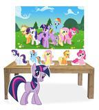 Kit Display Mdf My Little Pony Com 06 Pçs + Painel - X4adesivos