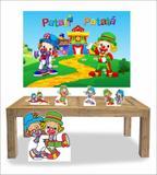 Kit Display Mdf Patati Patata Com 05 Pçs + Painel Grande - X4adesivos