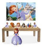 Kit Display Mdf Princesa Sofia Com 07 Pçs + Painel Grande - X4adesivos