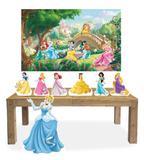Kit Display Mdf Princesas Com 07 Pçs + Painel Grande - X4adesivos