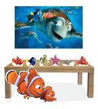 Kit Display Mdf Procurando Nemo Com 07 Pçs + Painel - X4adesivos