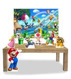 Kit Display Mdf Super Mario Com 07 Pçs + Painel Grande - X4adesivos