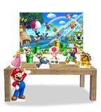 Kit Display Mdf Super Mario Com 07 Pçs + Painel - X4adesivos