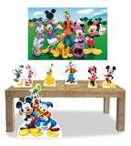 Kit Display Mdf Turma do Mickey Com 06 Pçs + Painel Grande - X4adesivos