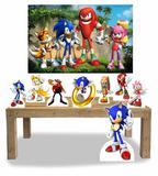Kit Display Sonic 8 Peças + Painel Grande - X4adesivos