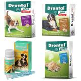 Kit Drontal 01un 10kg 01un 35kg 01un Puppy 01un Gatos - Bayer