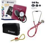 Kit Enfermagem: Aparelho de Pressão + Estetoscópio Rappaport Incoterm - Vinho