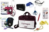 Kit Enfermagem Aparelho Pressão com Estetoscópio Clinico Duplo Incoterm Completo - Vinho + Bolsa JRMED + Medidor de Glicose - G-Tech