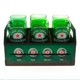 Kit Engradado Estampa Temática Heineke Com 6 Copos HYPEM