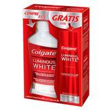 Kit Enxaguante Bucal Colgate Luminous White 500ml + Creme Dental 70g