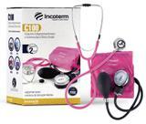 Kit Esfigmomanômetro + Esteto Duplo + Bolsa Incoterm Rosa Pink