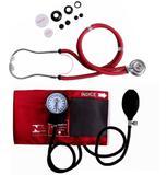 Kit Esfigmomanômetro + Estetoscópio Rapapport Vinho - Premium