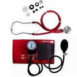 Kit Esfigmomanômetro + Estetoscópio Vinho Premium - G-tech