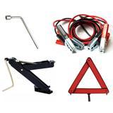 Kit Estepe Para Carro - Macaco + Chave De Roda 17mm + Triângulo + Cabo Auxiliar - Andorinha