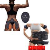 Kit Estimulação Elétrica Muscular Abdominal Braço Glúteo - Beauty body