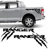 Kit Faixa Ford Ranger Garras 2013/2019 Adesivo Lateral Preto - Sportinox