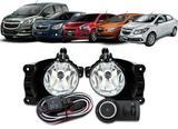 Kit Farol de Milha Neblina Chevrolet Cobalt / Spin / Novo Prisma / Onix LT / LTZ 2013 á 2015 + Interruptor Modelo Original - Onixx import