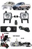 Kit Farol de Milha Neblina Chevrolet Novo Corsa 2002 à 2012 Montana 2003 à 2011 + Kit Xenon 6000K 8000K ou Kit Lâmpada LED - Suns / zapos / tiger
