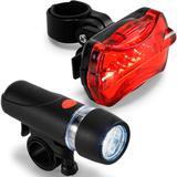 Kit Farol e Lanterna Led para Bicicleta TopGet