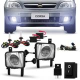 Kit Farol Milha Corsa Meriva 2003 a 2012 Montana 2003 a 2010 + Kit Xenon 8000K - Prime