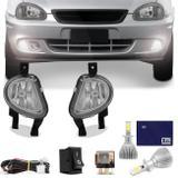 Kit Farol Milha Corsa Pick-up Wagon 00 a 02 Hatch Sedan 99 a 02 Classic 03 a 10 + Super LED 6000K - Kit prime