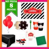 Kit Festa Cassino 08 Pessoas - Festabox