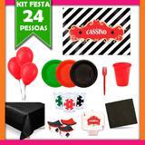 Kit Festa Cassino 24 Pessoas - Festabox