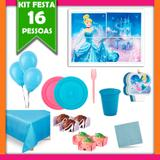 Kit Festa Cinderela 16 Pessoas - Festabox