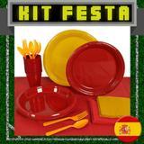 Kit Festa Copa do Mundo Espanha 20 pessoas - Festabox