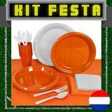 Kit Festa Copa do Mundo Holanda 20 pessoas - Festabox