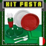 Kit Festa Copa do Mundo Itália 20 pessoas - Festabox