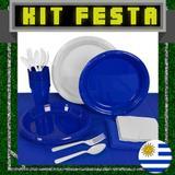 Kit Festa Copa do Mundo Uruguai 20 pessoas - Festabox