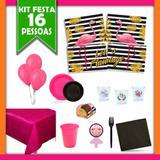 Kit Festa  Flamingo 16 Pessoas - Festabox