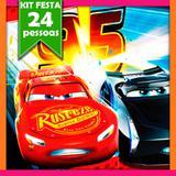 Kit Festa Infantil Carros Silver 24 pessoas - Festabox