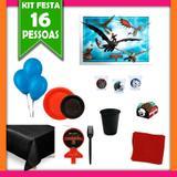 Kit Festa Infantil Como Treinar seu Dragão 16 Pessoas - Festabox